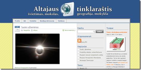Altajus.net tinklalapio dizaino modifikacija