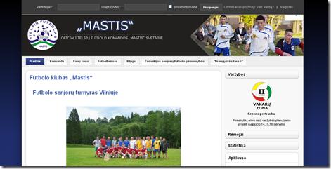"""Futbolo klubo """"Mastis"""" svetainė"""