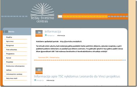 Telšių švietimo centro tinklalapis