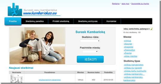 www.kambariokas.eu dizainas