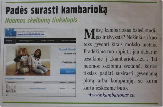 www.kambariokas.eu reklama